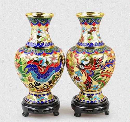 Blue flowers Cloisonne Kupfer Reifen Seide Vase Eigenschaften of Crafts Dekoration
