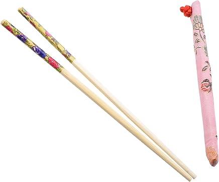 Sonline 10 Paare chinesischen Essstaebchen aus Bambus