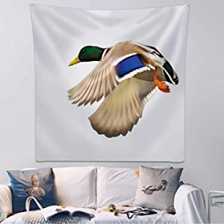 Hitecera Duck Flying Tapestry Wall Hanging,166979 Wall Art for Bedroom,59.1x59.1inch