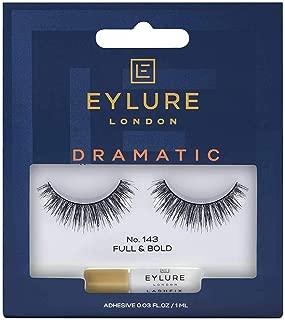 Eylure Dramatic False Eyelashes, Style No. 143, Reusable Adhesive Included, 1 Pair