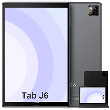 Tablet 10 Pulgadas Android 10.0 - RAM 4GB | ROM 64GB - WiFi - Octa Core (Certificación Google GMS) - JUSYEA Tableta - Batería de 6000mAh - Cubierta (Gris)