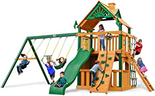 Chateau II Clubhouse with Timber Shield Cedar Swing Set