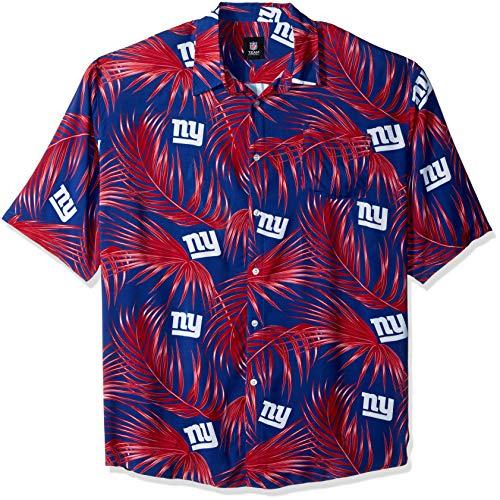 New York Giants NFL Mens Hawaiian Button Up Shirt - XL