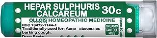OLLOIS Organic, Lactose Free Homeopathic Medicines, Hepar Sulphuris Calcareum 30C Pellets, 80Count