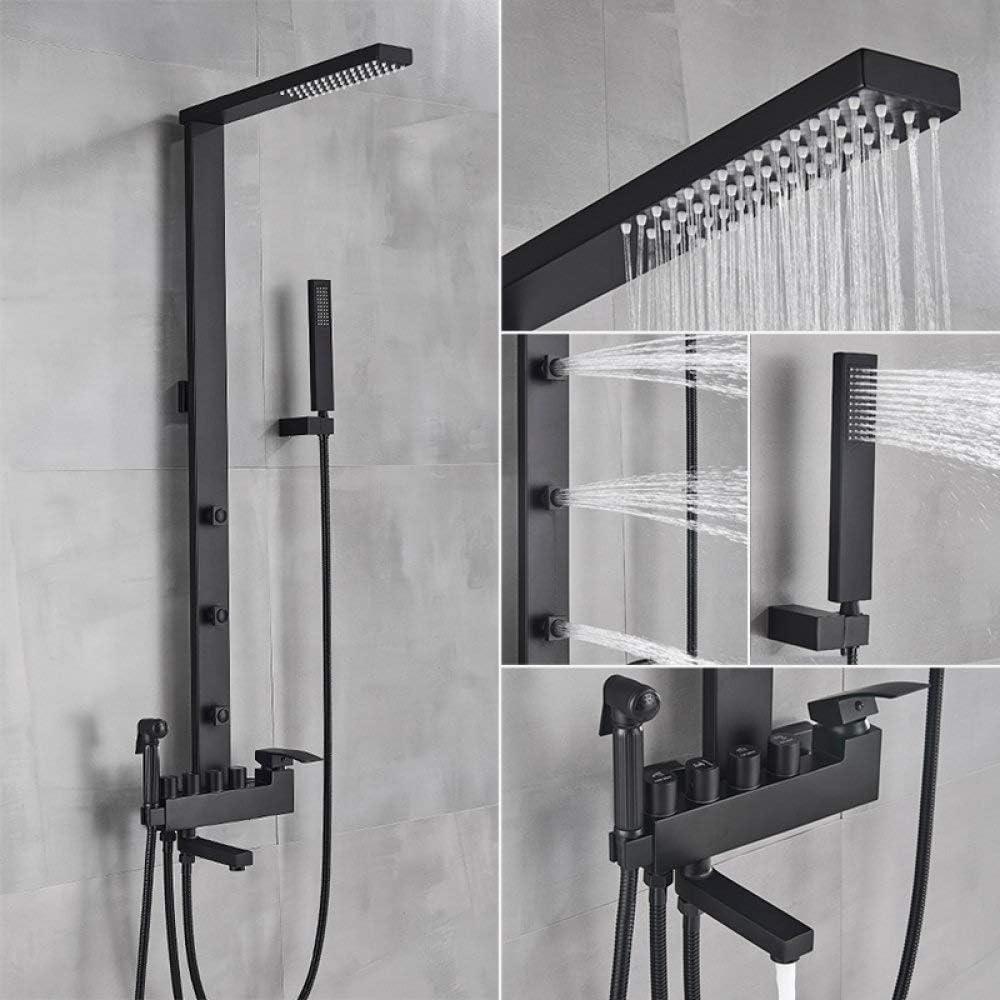 UIOXAIE Award Shower System Luxury Matte Bath Ra Black Max 62% OFF Faucet Bathroom