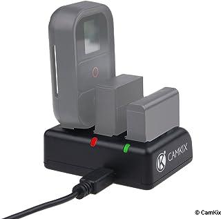 Cargador CamKix Triple Pro – Cargue Sus Baterias Hero 4 y Hero 3 y Control Remoto Rojo/Verde LED Son Indicadores Estatus de Carga – Cable USB Cargador Incluido - AHDBT- 301/302/401