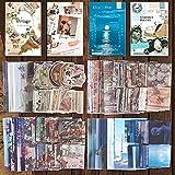 Pegatinas Scrapbooking Vintage,220 Pcs Autoadhesivas Pegatinas Papel Scrapbooking,para Álbumes DIY Manualidades Calendarios Tarjetas Bullet Journal