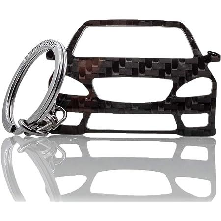 Blackstuff Carbon Karbonfaser Schlüsselanhänger Kompatibel Mit A Class W176 2013 2019 Bs 194 Bekleidung