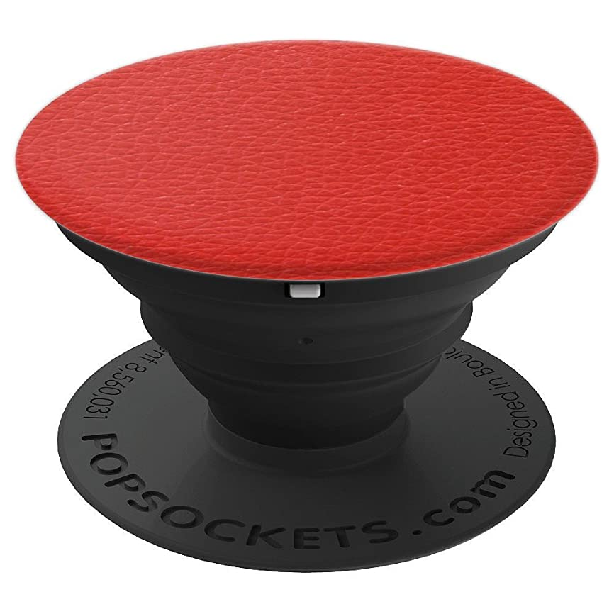 Red Leather - PopSockets Grip and Stand for Phones and Tablets