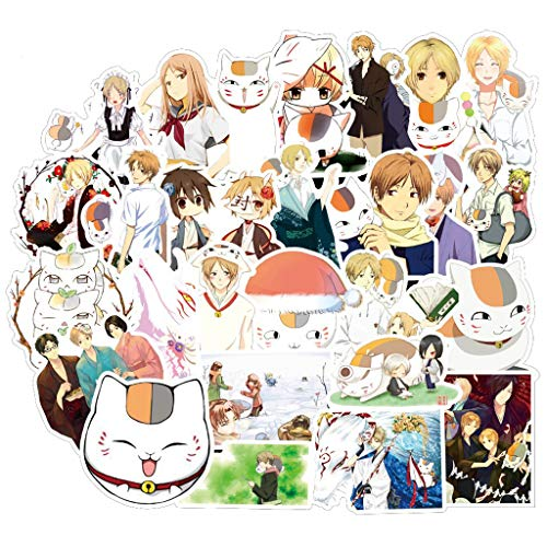 YUHANG Anime Natsume Yuujinchou Cartoon Waterproof Diy Decals Sticker For Fridge Suitcase Stationery Developer Decor 50Pcs