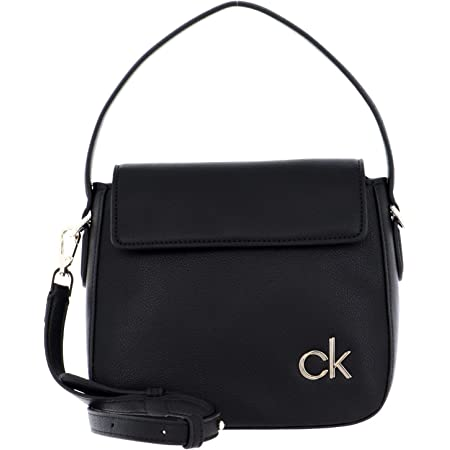 Calvin Klein Damen Flap HOBO W/FLP SM, Schwarz, 28 Inches, Extra-Large