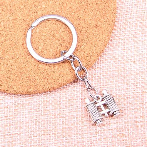 TAOZIAA dubbelzijdige telescoop bedelhanger sleutelhanger sleutelhanger ketting accessoires sieraden maken voor geschenken