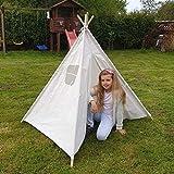 Amazinggirl Tipi Zelt für Kinder Spielzelt - Tippi Kinderzelt Kinderzimmer Teepee Wigwam...
