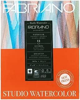 Savoir Faire Fabriano Studio Watercolor Pad 8X10 HP 300G