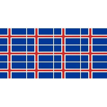 Mini Aufkleber Set Pack Glatt 50x31mm Sticker Fahne Island Flagge Banner Standarte Fürs Auto Büro Zu Hause Und Die Schule 12 Stück Bürobedarf Schreibwaren