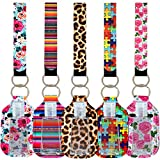 10Pcs Empty Travel Size Bottle Hand Sanitizer Keychain Holder Refillable 30 ML Bottles for Soap, Lotion and Liquids Reusable Portable Travel Bottles with Lanyard Wristlet (Style F)