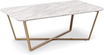 Blanc M/étal Menzzo Sundance Table Basse en Bois Taille Unique