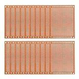 uxcell ユニバーサルPCBボード 7x9cm FR1 94HBベークライト 片面プロトボード 20個入り
