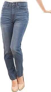 [Happy Honu(ハッピー ホヌ)] ハイウエスト パンツ ジーンズ スキニー 大きいサイズ ゆったり タイト ストレッチ 女性 伸縮性 カジュアル 美脚 レディース