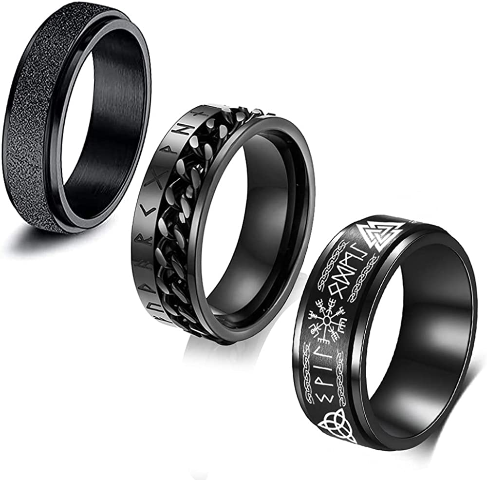 FLYUN 3PCS Mens Rings sale Viking Ring Jewelry Max 81% OFF Norse Men For