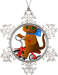 Promini Personalised Christmas Tree Decoration Tricycle Blank Metal Ornaments