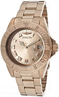 Invicta Pro Diver Men's Rose Gold Dial Stainless Steel Band Watch - INVICTA-12821