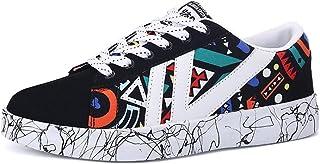 [HR株式会社] スニーカー カジュアルシューズ メンズ/レディース デッキシューズ 男女兼用 運動靴 軽量 キャンバス メッシュ ローカット ファッション カップル 通気性 歩きやすい サイズ22.5cm-27.0cm
