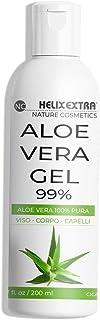 Aloe Vera Gel 100%, aloe vera gel puro e biologico. Per Viso, Corpo e Capelli, per pelli secche e stressate. Idratante, le...