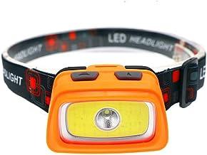 Hoofdlamp draagbare mini led-schijnwerper outdoor camping vissen schijnwerper werk lantaarn zaklamp gebruiken oranje