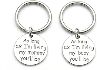Mother Daughter Keychain Set of Two Quote Keychain Mother Daughter Gift