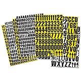 Lagerkennzeichnung, Lagerbeschriftung magnetisch, Magnetzahlen, 43mm hoch - inkl. Sonderzeichen, Farbe:gelb -