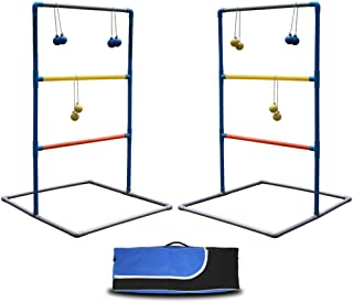 Maggift Ladder Toss Game Set for Indoor or Outdoor with 6 Bolas, Carrying Case