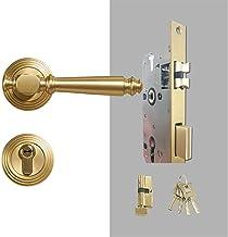 Slot Messing deurslot set licht luxe grijze interiror slaapkamer badkamer dubbele houten deur hendel set dummy handgreep k...
