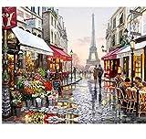 OKOUNOKO Puzzles De 1000 Piezas para Adultos 3D París Flor Calle Paisaje Arte Moderno Bricolaje Montaje Personalizado De Madera Jigsaw Puzzles Divertido