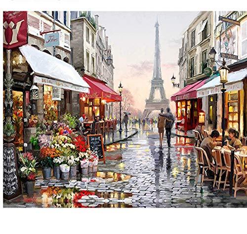 Puzzles De 1000 Piezas para Adultos 3D París Flor Calle Paisaje Arte Moderno Bricolaje Montaje Personalizado De Madera Jigsaw Puzzles Divertido