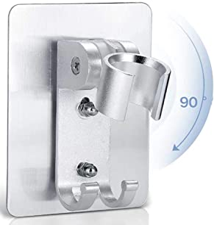 Porta Doccetta Ibergrif M20403 Supporto Soffione Doccia Muro in ABS argento Cromo