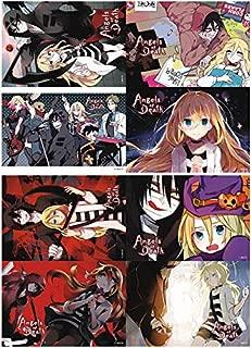 ePanda Anime Angels of Death Poster Wall Decor Art Print,Set of 8 pcs,11.5x16.5 inches