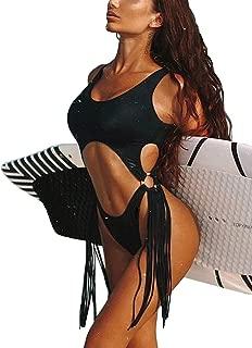 ALLureLove Swimsuits Bathing Suits Women Sexy Monokini Cut Out Bikini One Piece Cheeky Swimwear