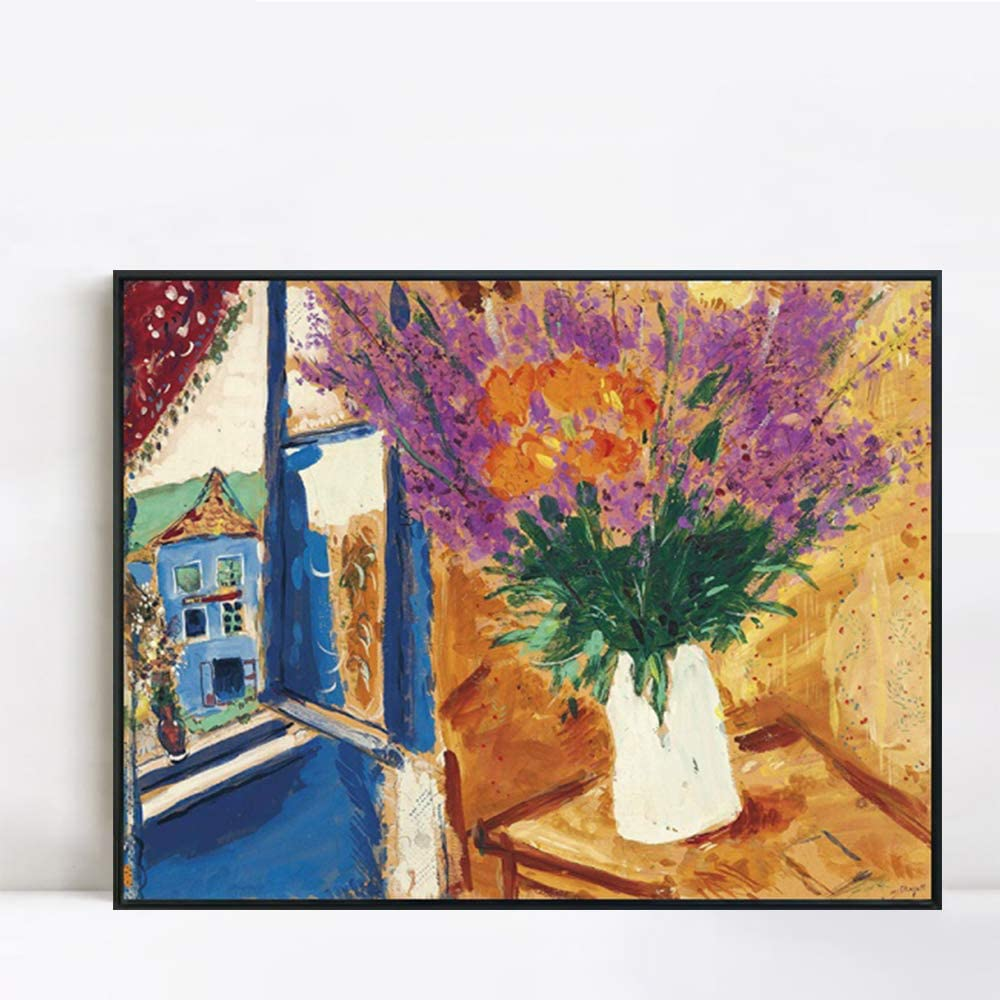 INVIN ART Framed Canvas Giclee Print Chaga Marc 11 Flower Max Save money 67% OFF Art by