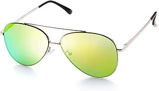 Aviator Sunglasses for Women, Designer Sunglasses with Case, UV400 Protection, Metal Frame, Flat Lens, Lightweight