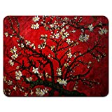 Meffort Inc Standard 9.5 x 7.9 Inch Mouse Pad - Vincent Van Gogh Cherry Blossoming