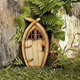 Nicejoy Mini Fee Tür Garten Holz Gartenhaus 3D Miniatur GNOME Puppe Elf Tür Dekor Für Micro Landschaft Fee Garten Zubehör