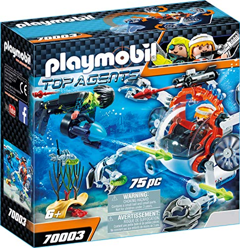 PLAYMOBIL Top Agents Spy Team Sub Bot, A partir de 6 años (70003)