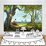 Vintage Winnie The Pooh Baby Shower Backdrop Woodland 7x5ft Red Balloon Winnie The Pooh Quotes Sometimes Birthday Background for Kids Pre School Nursery Room Wall Decor