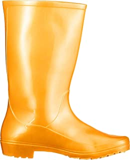 Hillson 101 Safety Gumboot, Without Lining, Golden, UK Size 5