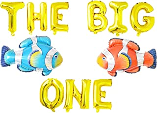 The Big One Balloons, Little Fisherman Birthday Party Banner, O Fish Ally One   The Big One   Gone Fishing Ofishally One Theme Kid Birthday Party Supplies Decoration