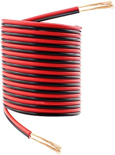 SIM&NAT 33ft Red Black Hookup Wire,  20 AWG Audio Cable 2 Conductor Electric Speaker Cable for Radios and Led Light Applications