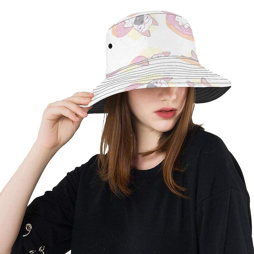 憤る推論ひねりHASHA Uvカット帽子 フレンチブルドッグ バケットハット サンバイザー 日よけ 日焼け止め レディース 女子 綿 つば広 おしゃれ 折りたたみ 春夏 ストローハット アウトドア 旅行 トラベル 紫外線対策 遮光 吸汗速乾 小顔効果抜群
