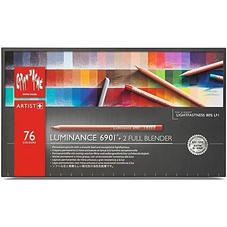 Caran D'Ache Luminance 6901 - Matite Colorate (scatola Di 76 pezzi + 2 Full Blender), multi