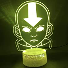 Tatapai 3D Illusion Lamp Led Night Light The Last Airbender Children Baby Room Decor Clock Avatar The Legend of Aang Figur...